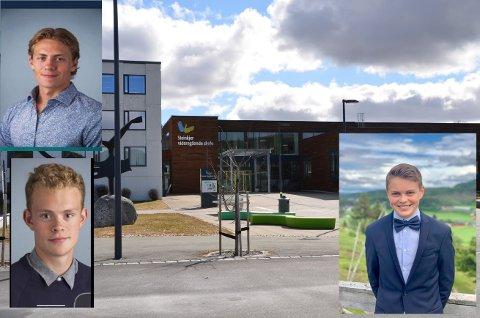 HJEMMESKOLE: Tre inderøygutter som vanligvis tilbringer dagen på Steinkjer videregående skole, om hjemmeskole.