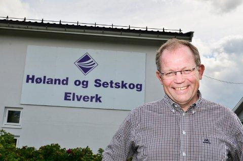 I streik: – Vi beklager at streiken går utover tredjepart, sier daglig leder Geir Rismyhr i Høland og Setskog Elverk.