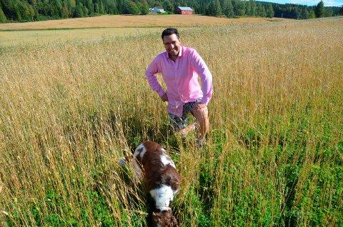 PÅ FJERNSYN:Petter Simonsen blir å se på Farmen i kveld. Foto: Roger Ødegård