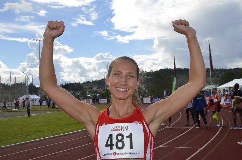 VANT IGJEN: Astrid Mangen Cederkvist kunne juble for enda en sprinttittel i junior-NM, og søndag blir det etter all sannsynlighet enda en. Foto: Jon Wiik