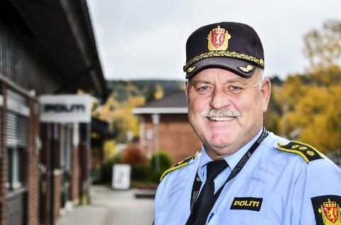 Tilfreds: Lensmann Svein Engen i Aurskog-Høland gleder seg over at det etter all sannsynlighet etableres en fullverdig politistasjon på Bjørkelangen. Foto: Øyvind Henningsen