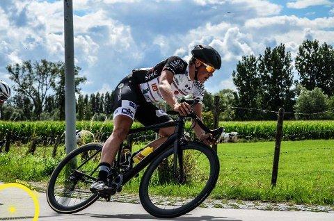 Marius Wold tråkket inn til en god syvendeplass i et sykkelritt i Belgia i helgen. Foto: Privat