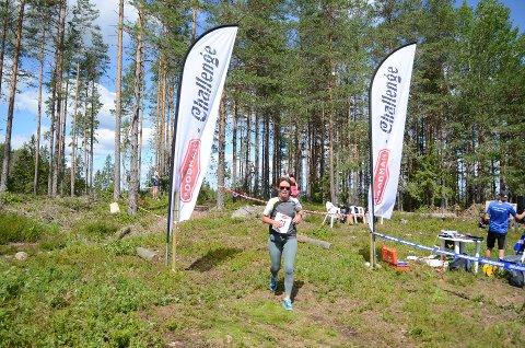 Spurtslo venninnen: Ellen Thøring (47) fra Aurskog i Foodman Challenge.