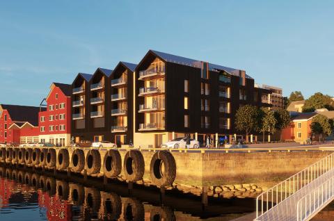 SER FOR SEG DETTE: Dette er planene som selskapet Hårek Holding AS har fått tegnet for Torggården i Sandnessjøen.