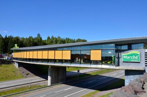 SNART SLUTT: Innen september blir det slutt på Marché-drift i motorveirestauranten på Grelland. (Arkivfoto)