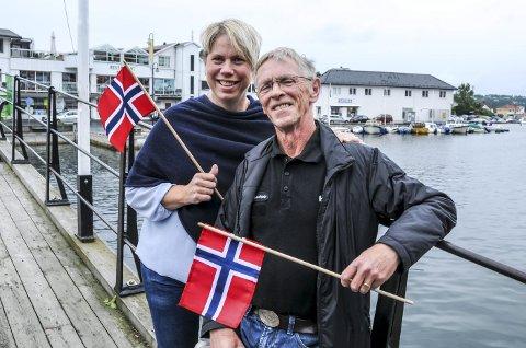 Gleder seg: Kari Sveberg i Kirkens bymisjon og Tore Larsen i Norsk Folkehjelp er begge invitert til hageselskap på slottet 1. september.