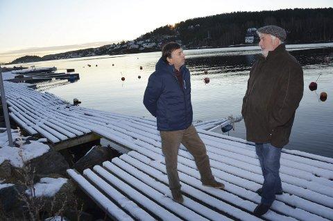 Enige: Geir Westhrin i Rørvik båtforening (t.v.) og havnestyreleder Øyvind Olsen er nå enige om båthavna i Rørvik.