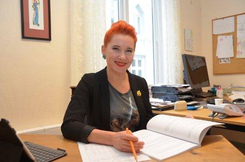 FORNØYD: – Vi har blitt enige om et fylkesbudsjett som er godt for Kragerø, sier Charlotte Therkelsen Sætersdal (Rødt).
