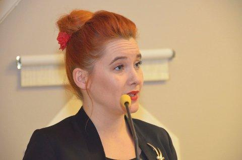 På kvinnedagen: Varaordfører Charlotte Therkelsen Sætersdal (Rødt) roste KVs #meetoo-oppslag i kommunestyret.