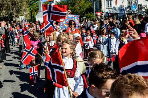 AVLYST: Vanlig 17. mai feiring i Kragerø med blant annet barnetog er avlyst. Men en eller annen verdig markering av nasjonaldagen blir det.