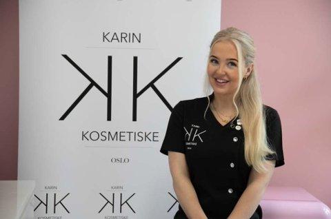 SIN EGEN SJEF: Karin Borge Wischuf er daglig leder og eier i Karin Kosmetiske.