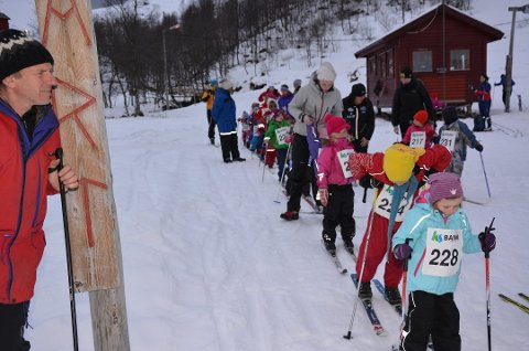 Frå eit tidlegare renn i Fjellhaugen. (Arkivfoto).