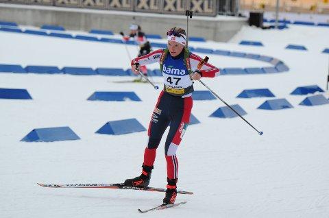 NUMMER 14: Ragnhild Femsteinevik hamna på 14. plass både under sprinten og fellesstarten på Sjusjøen i helga. (Foto: Svein Halvor Moe).
