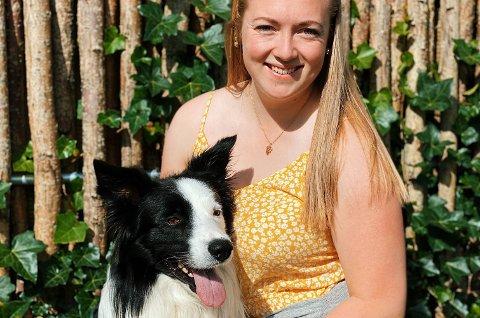 Emilie Kaldestad Ersland bur i Stavanger saman med kjærasten og hunden Akito. (Foto: Privat).