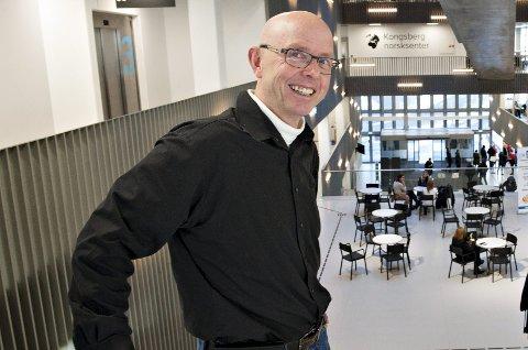 GLAD: Næringssjef i Kongsberg kommune, Ingar Vaskinn, er glad for støtte til kommunalt samarbeid til forskning og næringsliv.