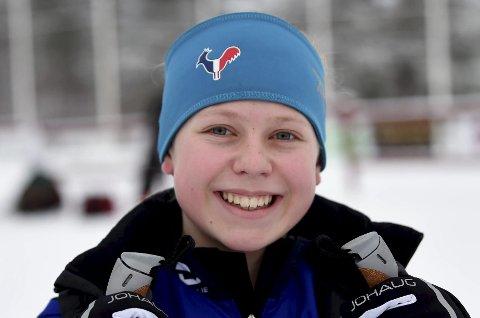 ANDREPLASS: Mathea Tegdal har gått fort på ski i vinter. Lørdag ble hun nest best i terrengsykkelstarten på Fiskum.