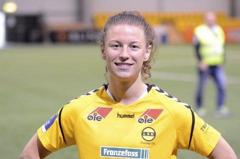 SERIEGULL: Hvittingfossjenta og LSK-spilleren Synne Skinnes Hansen sikret seriegullet, da Klepp bare klarte uavgjort mot Vålerenga.