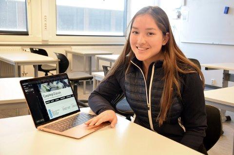 STARTER SKOLEAVIS: Vanessa Lofsberg er initiativtaker og blir leder av redaksjonen til Kongsbergs Tidende, den nye skoleavisa.