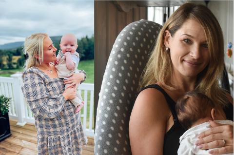 BABYBOOM: Mona Ekra Hedenstad fikk Oliver for fem måneder siden, mens det bare er litt over en måned siden Jenny Jensås' Michael Elias kom til verden.