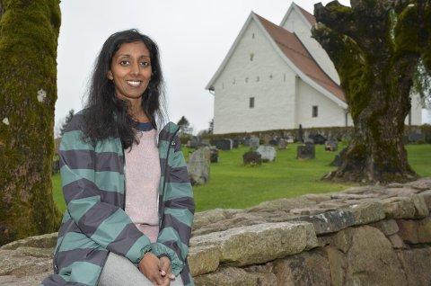 GLEDER SEG: Beena Karpisova (37) gleder seg til å jobbe som kantor i Frogner menighet og ser fram til å samarbeide med kulturlivet i Lier.
