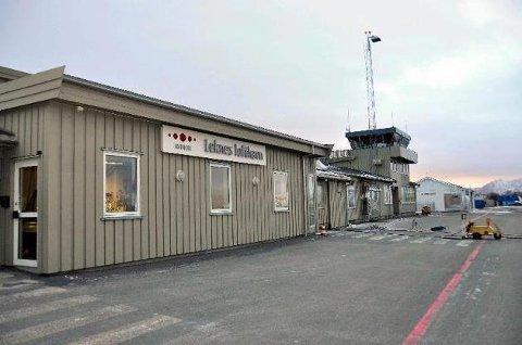 Utsatt: Ombygging av terminalen på Leknes lufthavn er utsatt inntil videre.