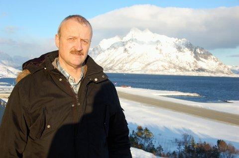 Trafikkøkning: Bjørn Opsahl ved Svolvær Lufthavn Helle.