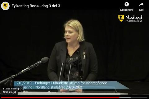 Hilde Holand (Krf) i Nordland fylkesting.
