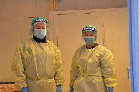 Ingrid Lien og My Dieu Thi Nguyen er fornøyde med bedre fasiliteter i den nye teststasjonen.
