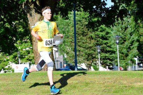 Sammenlagtseier: Christopher Ladim gikk til topps sammenlagt i 16-årsklassen for menn.