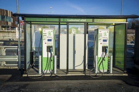 Flere lademuligheter: Fortum tilbyr stadig flere lademuligheter for elbiler.