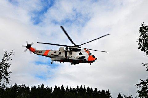 Et Sea King-helikopter ble satt inn i søket etter mannen.