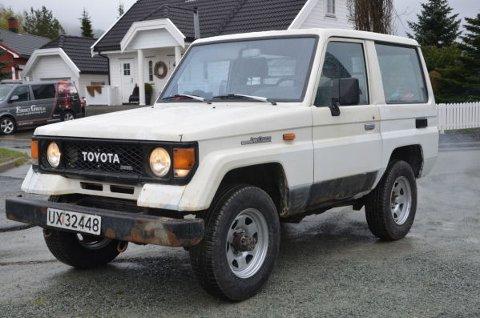 Dette er Noems nyeste objekt, en Toyota Landcruiser 1985-modell. Den skal bli en dugelig bruksbil for blant annet hytteturene.
