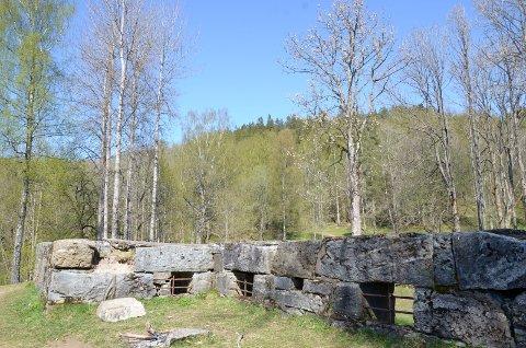 RUINER: I dag er det bare ruiner igjen på Sarabråten, men det er fortsatt et yndet utfluktsted.