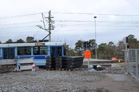 JOMFRUBRÅTEN: Trikkeholdeplassen forsvant i forbindelse med anleggsarbeider, men skal gjenoppstå. Arkivfoto: Kristin Trosvik
