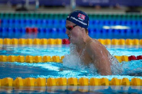 TIL LAMBERTSETER: Henrik Christiansen, Norges klart beste svømmer, er klar for Lambertseter Svømmeklubb.