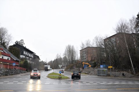 OPPSTART: Arbeidene med å lage rundkjøring her ved Langbølgen-Nordstrandveien starter nå.