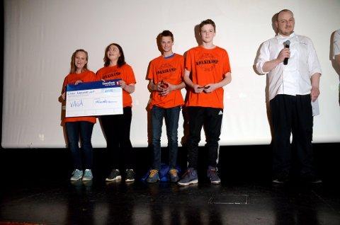 Mari Holen, Elise Ålstedt Løken, Kristian Vestad og Kenneth Kluften frå Vågå kom på 2.plass.