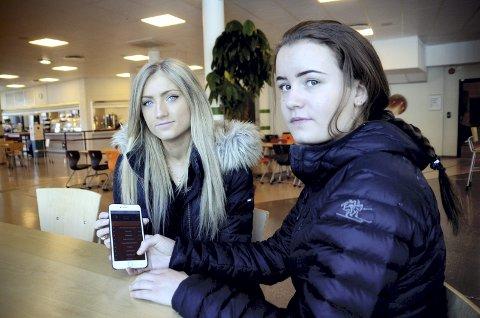 Ungdomsbedrift: Kristin Jonsen og Emma Blekastad Risdal har fått hjelp til å utvikle ei prototype av appen.