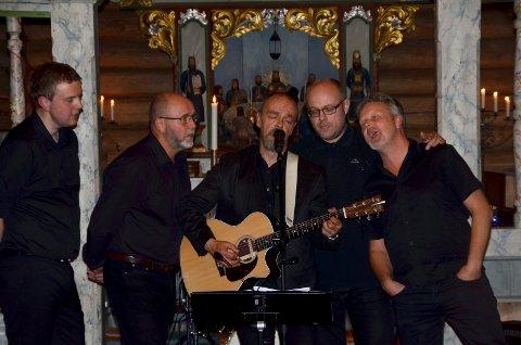 The Kingsmen, fra venstre Henning Grindstuen, Morten Graff, Ole Jonny Bekkemellem, Ole Erik Bjørnstadhaugen og Vidar Hoel.