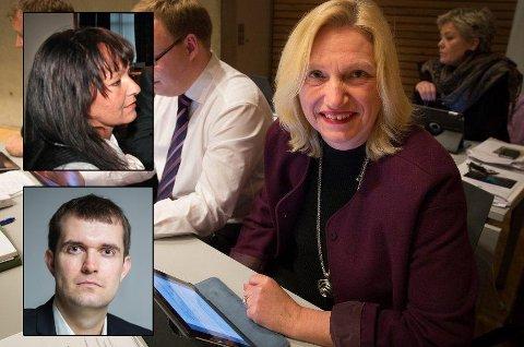 FERDIGE: Line Miriam Sandberg (innfelt), Line Fusdahl og Tor Arne Morskogen er usikre på hva de skal ta seg til nå som de er ferdige i fylkesrådet i Troms.
