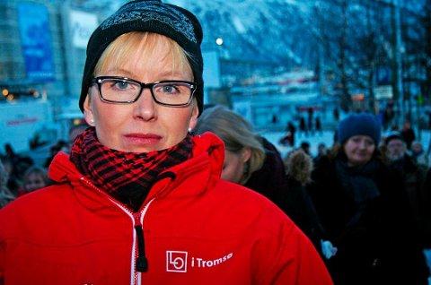 HAR FLERE LO-HATTER: Kristine Larsen må fratre jobben som ansatt organisasjonsmedarbeider i Norsk Arbeidsmandsforbund. Hun er samtidig en framtredene tillitsvalgt i Handel og Kontor og i LO i Tromsø.
