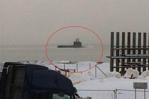 NEDRINGT: Nordlysredaksjonen har onsdag fått flere tips og bilder om ubåten som passerte Tromsøysundet. Det er ingen grunn til bekymring.