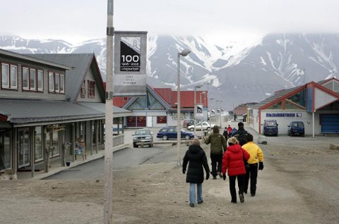 Arkivfoto fra Longyearbyen på Svalbard: Ole Åsheim