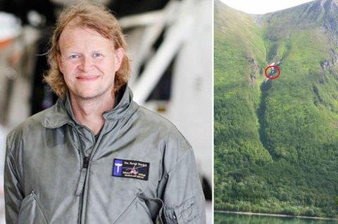 IMPONERT: Overlege Harald Stordahl lot seg imponere av de lokalkjente som hjalp til med å få den skadde ned fra fjellsida.