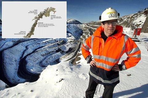 Her i Kvalsund har Øystein Rushfeldt og Nussir store kobberforekomster. Mineralet blir stadig mer viktig.