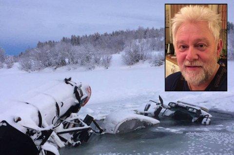 GIKK GJENNOM ISEN: Torgeir Hagensen trodde det var slutten, da dørene klappet igjen, og vannet begynte å stige. Så husket han på hammeren ved siden av ham.