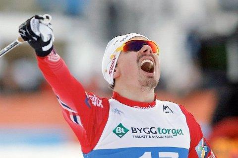 BRONSEGUTT: Finn Hågen Krogh fra Tverrelvdalen spurtet inn til VM bronse lørdag.