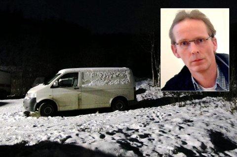 FORSVUNNET: Bilen til savnede Per Vålnes (50) (innfelt) ble funnet forlatt i Lavangsdalen i 2011. Åtte år senere har politiet gjort nye søk i området.