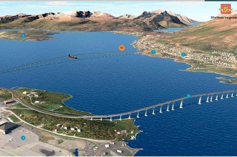 NY RIKSVEI? Høyre foreslo at ny Kvaløyforbindelse kan bli omdefinert fra fylkes- til riksvei. Forslaget om å følge opp dette ble likevel til slutt nedstemt.