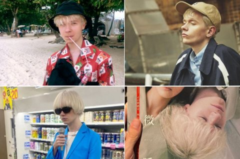 BIG IN JAPAN: Mads Boye Nilsen er fotomodell i Japan.